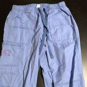 Women's small ceil blue wonder wink scrub pant